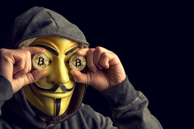 Hacker and bitcoin