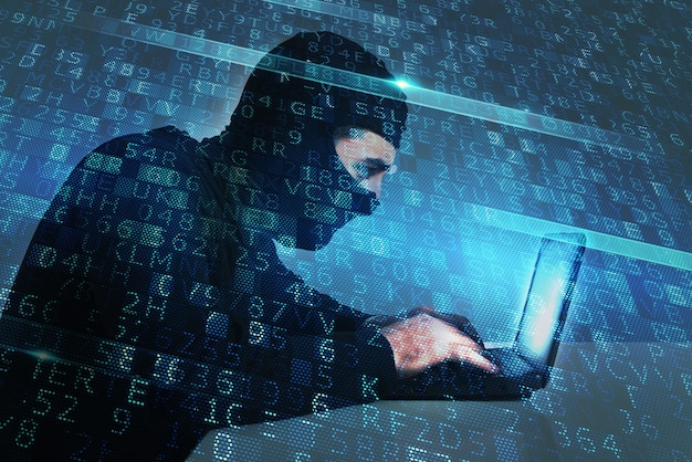 Hacker creates a backdoor illegal access on a computer