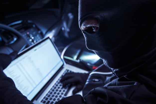 Hacker inside the car