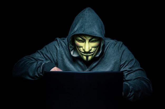 Hacker at work