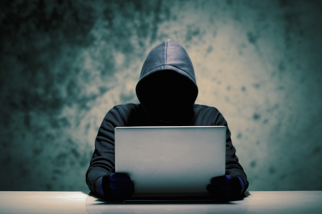 Hackers with computer data theft.