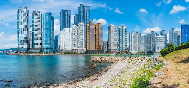 Haeundae beach in busan city, south korea