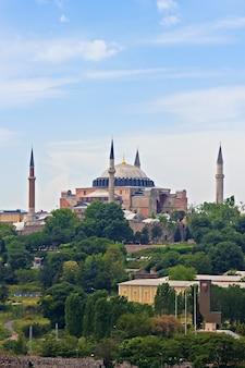 Hagia sophia dome in istanbul, turkey