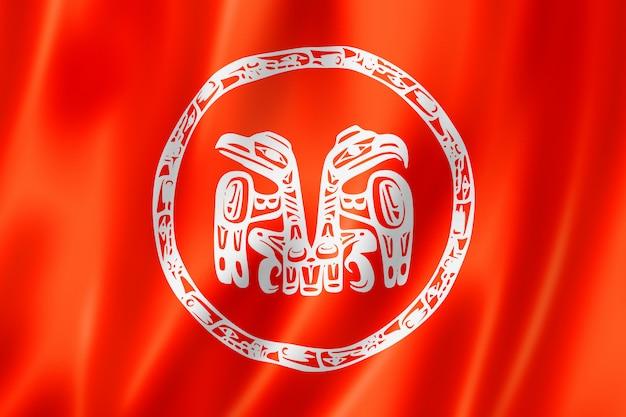 Haida people ethnic flag, canada
