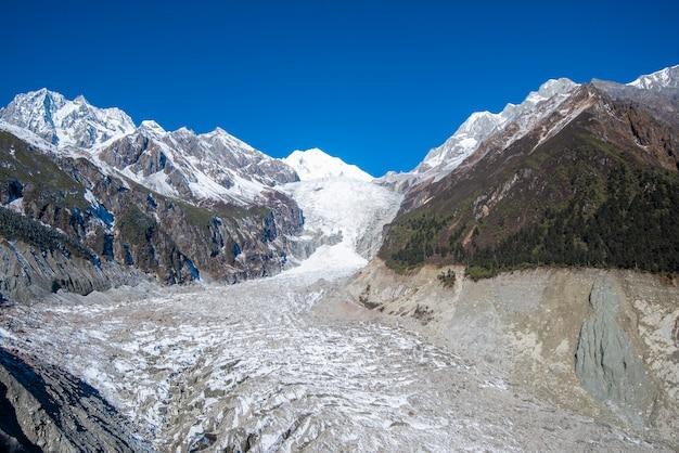 中国四川省luding郡moxi町hailuogou glacier