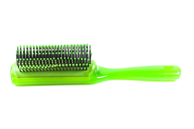 Hair brush on white background.