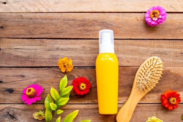 Hair care serum for damaged hairs with brush comb