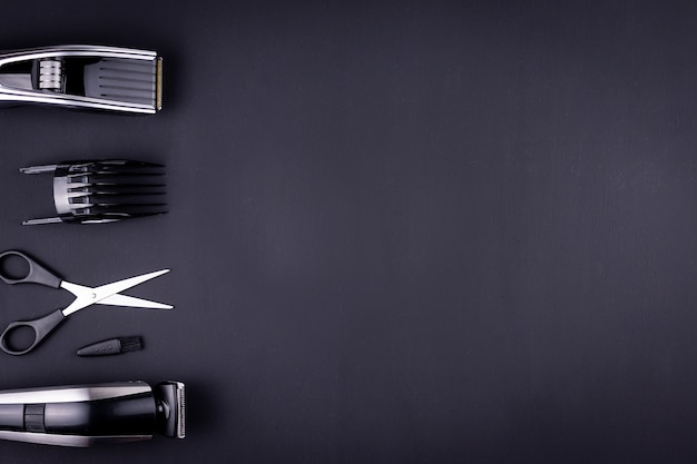 Hair clipper black background