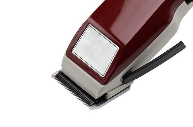 Hair clipper on head isolated