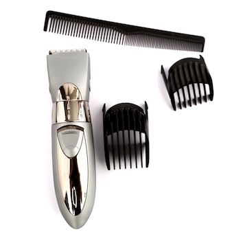 Haircut tool with white backdrop.
