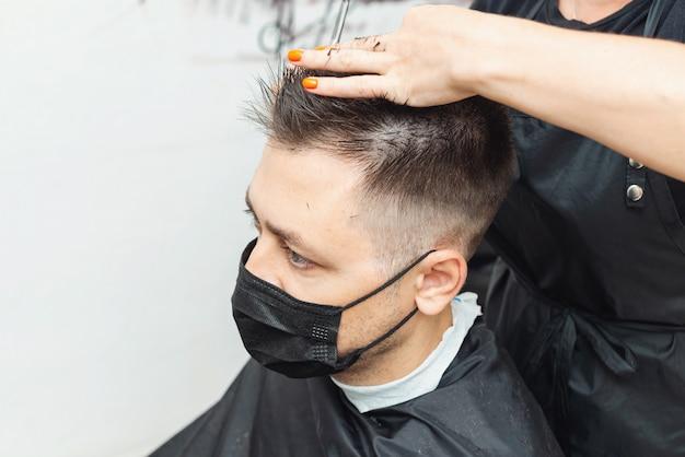 Hairdressers cutting hair during the coronavirus