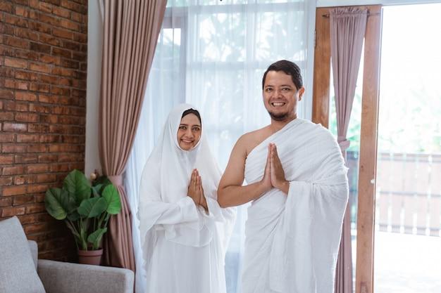 メッカ巡礼とウムライスラム教徒のカップル