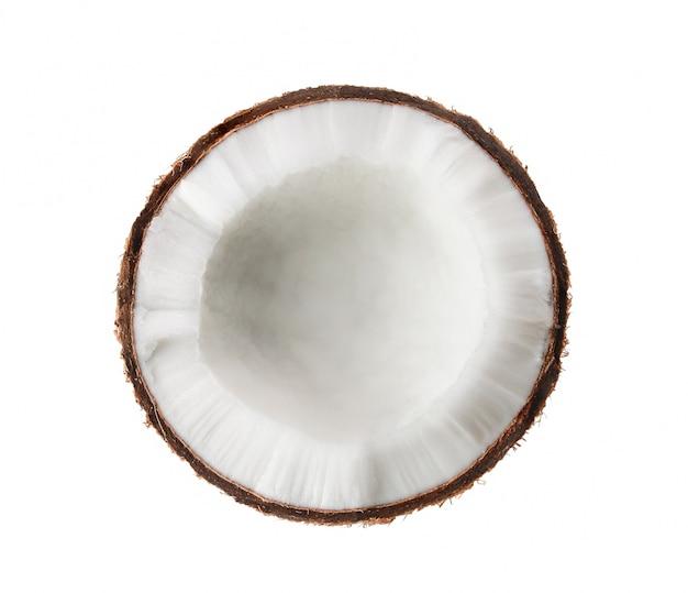 공백에 고립 된 반 코코넛