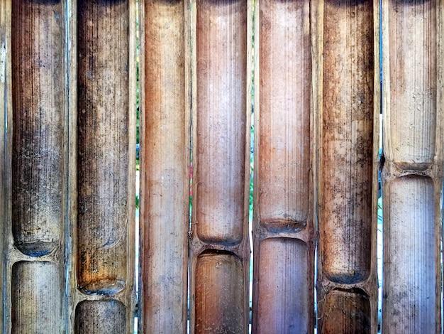 ハーフカット竹フェンスの背景
