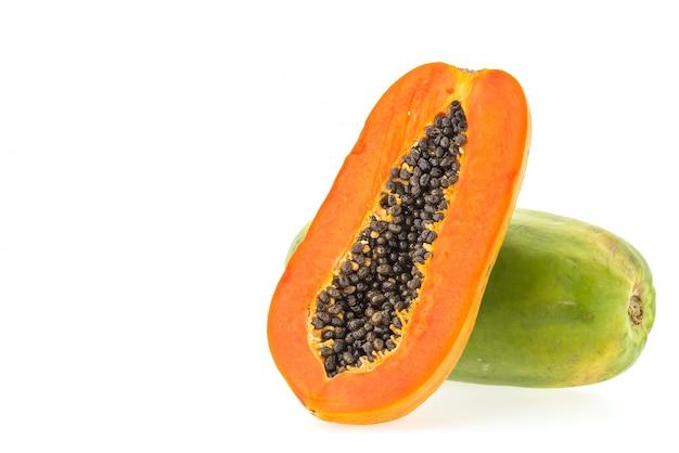 La metà cibo sfondo arancione fresco