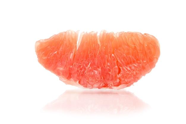 Half of grapefruit isolated on white background