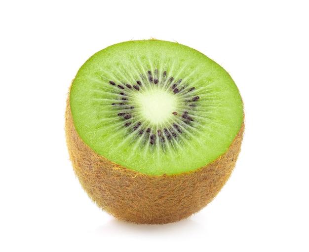 Half kiwi fruit isolated on white background