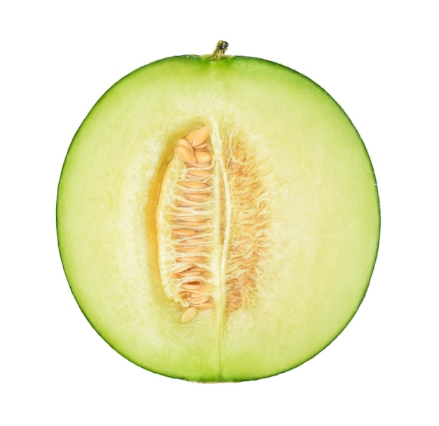 Half of melon isolated