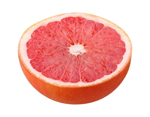 分離されたピンクグレープフルーツの半分