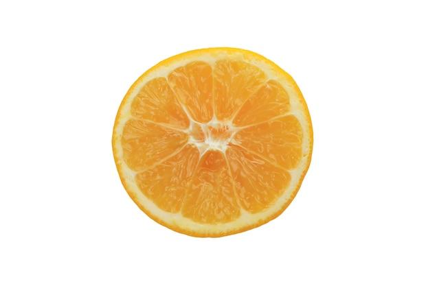 레몬 흰색 배경에 고립의 절반
