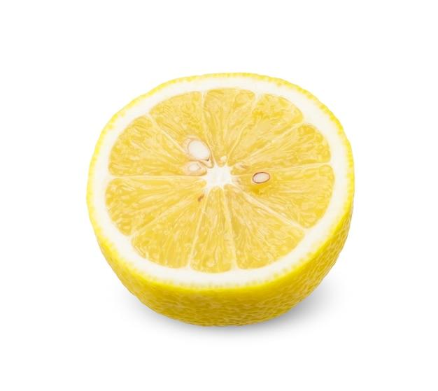 레몬 흰색 절연의 절반