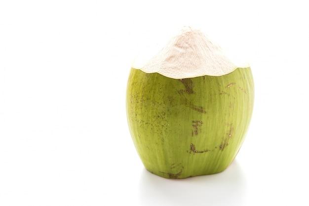 Half-peeled coconut Free Photo