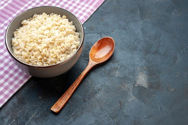 ハーフトップビュー調理済みパール大麦