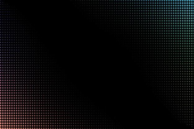 Halftone pattern on a black background