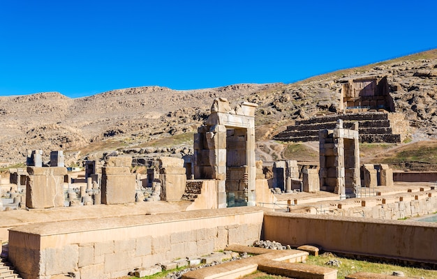 Hall of a hundred columns in persepolis, iran