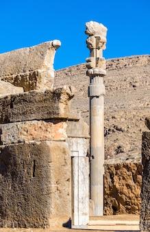 Hall of hundred columns in persepolis - iran