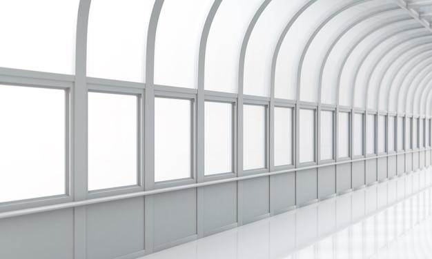 Зал бизнес-здания со светом из окна
