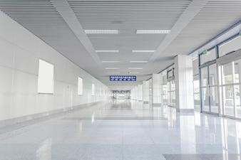 Hall with reflective floor