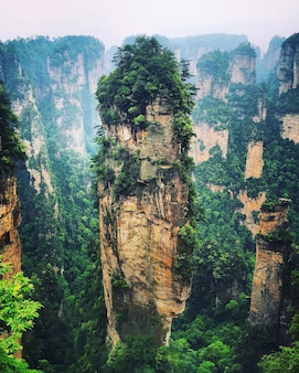 Hallelujah mountain in zhangjiajie, china