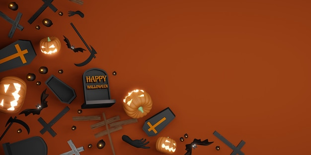 Хэллоуин фон копия космический фестиваль день фон 3d иллюстрации