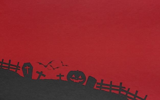 コピースペースでハロウィンの背景