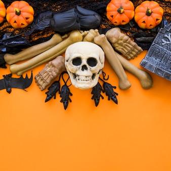 Хэллоуин фон с черепом и костями