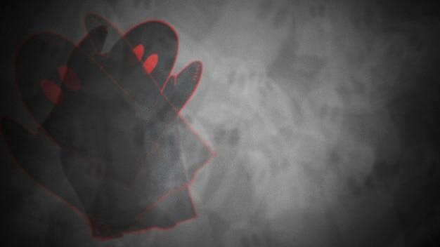Фон хэллоуина с привидениями. с праздником абстрактный фон. роскошный и элегантный стиль 3d иллюстрации для праздничного шаблона