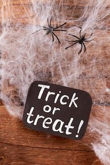 웹과 거미 할로윈 배경입니다.