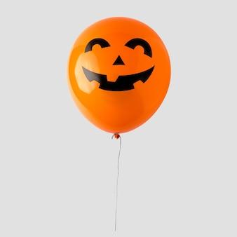 Воздушный шар хэллоуина на белом фоне