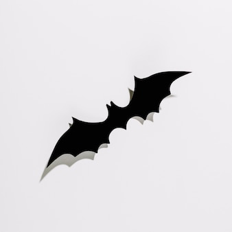 Halloween bat made of black plastic