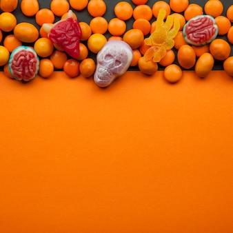Caramelle di halloween con lenticchie