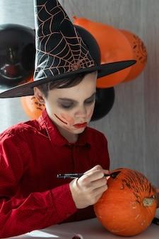 ハロウィーンのカーニバルや仮面舞踏会のコンセプト
