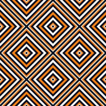 ハロウィーンの色の正方形のシームレスなパターンの背景