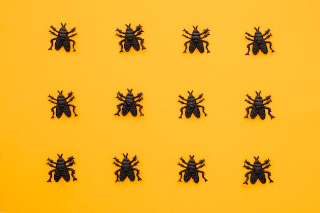 Halloween composition with 12 ants