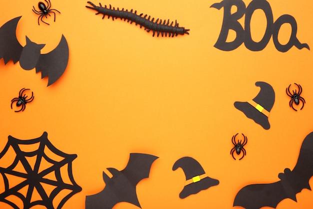 クモとコウモリのハロウィーンの組成