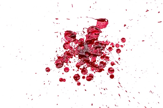 Halloween concept : blood splatter on white background