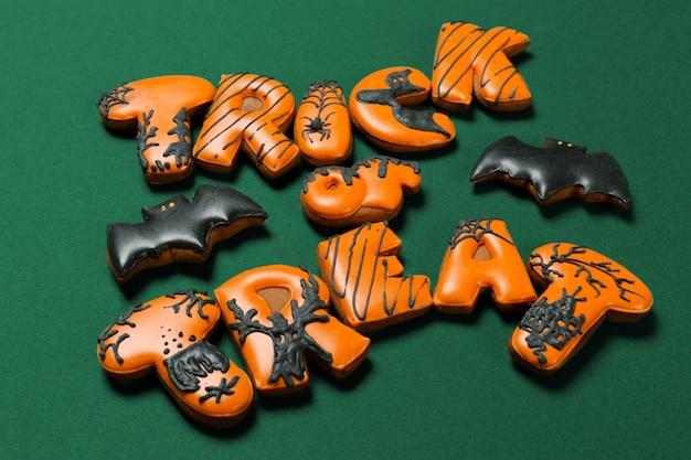 Halloween concept with cookies