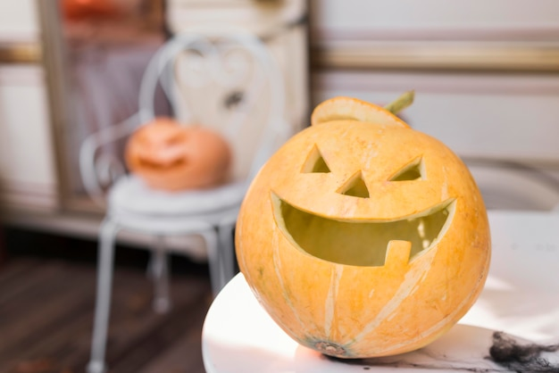 Halloween concept with pumpkin