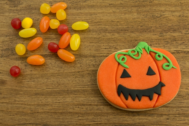 Halloween cookie and candies