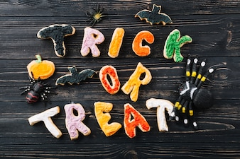 Halloween cookies and decorations